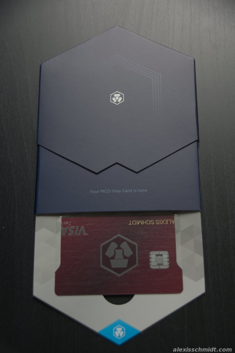 Box of the MCO Visa Card from crypto.com