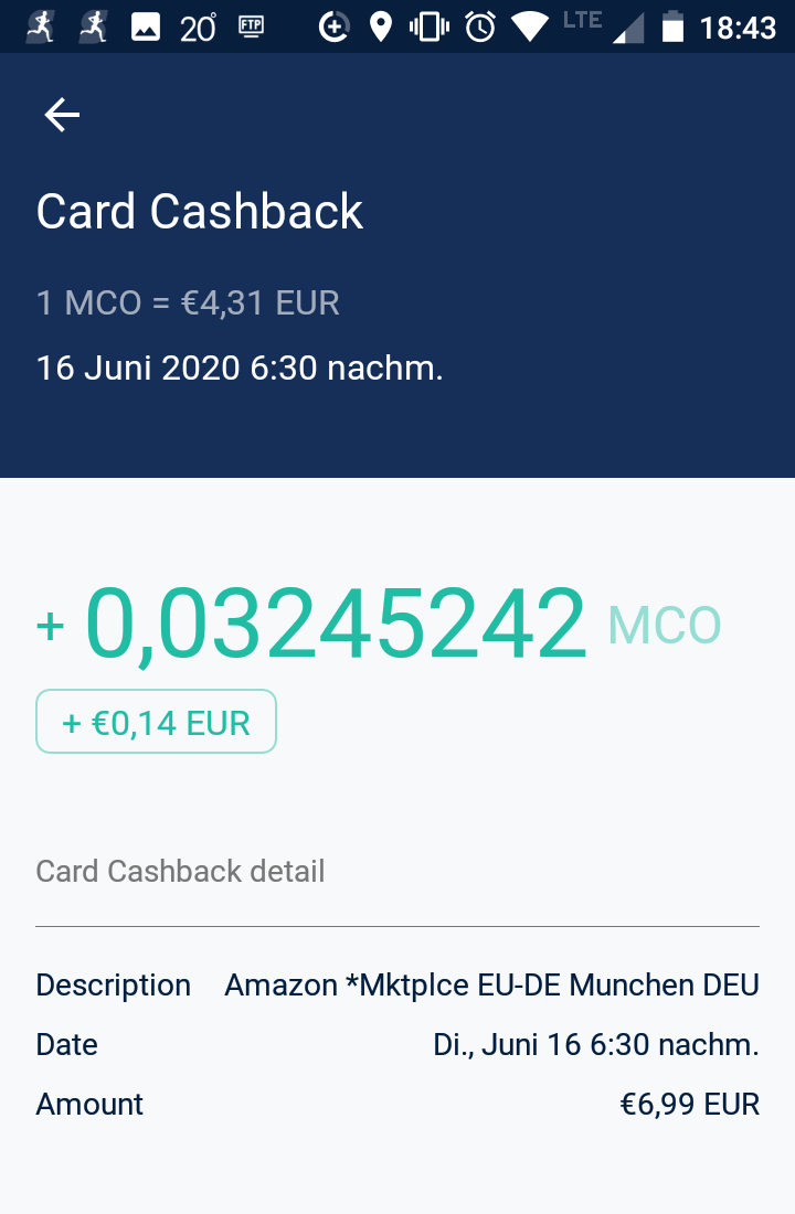 2% Card Cashback MCO Visa Card Ruby Steel