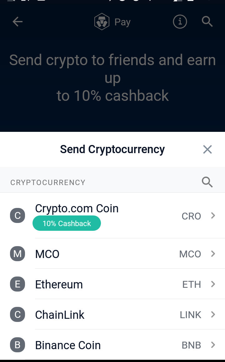 Crypto Currencies You Can Send.