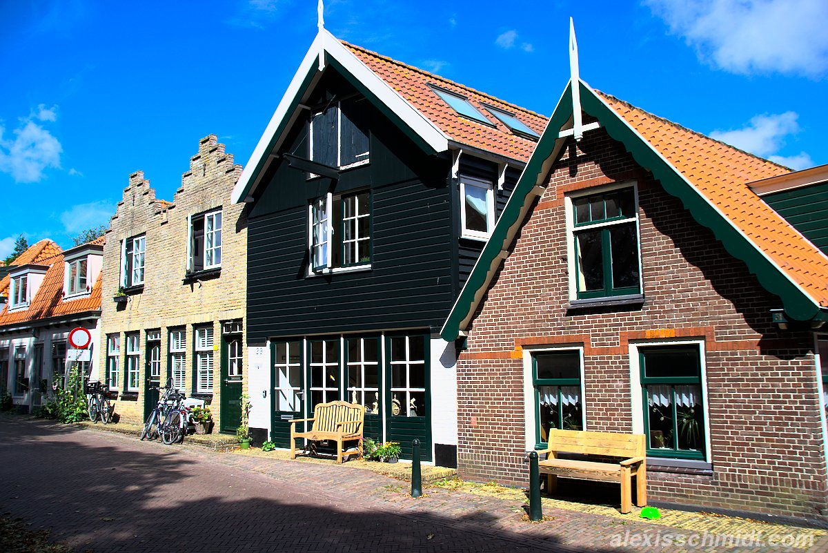 Häuser in Den Burg, Texel, Niederlande
