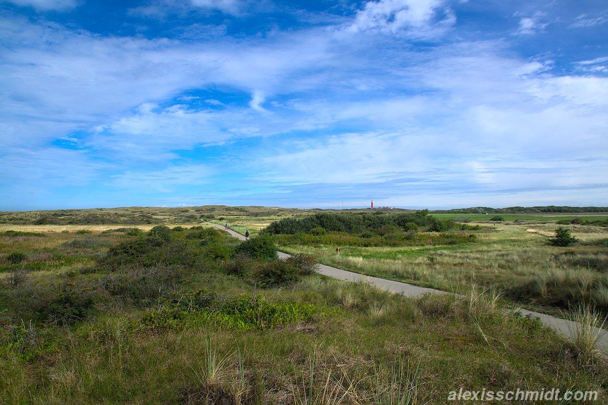 Radweg im Nationalpark Dünen von Texel