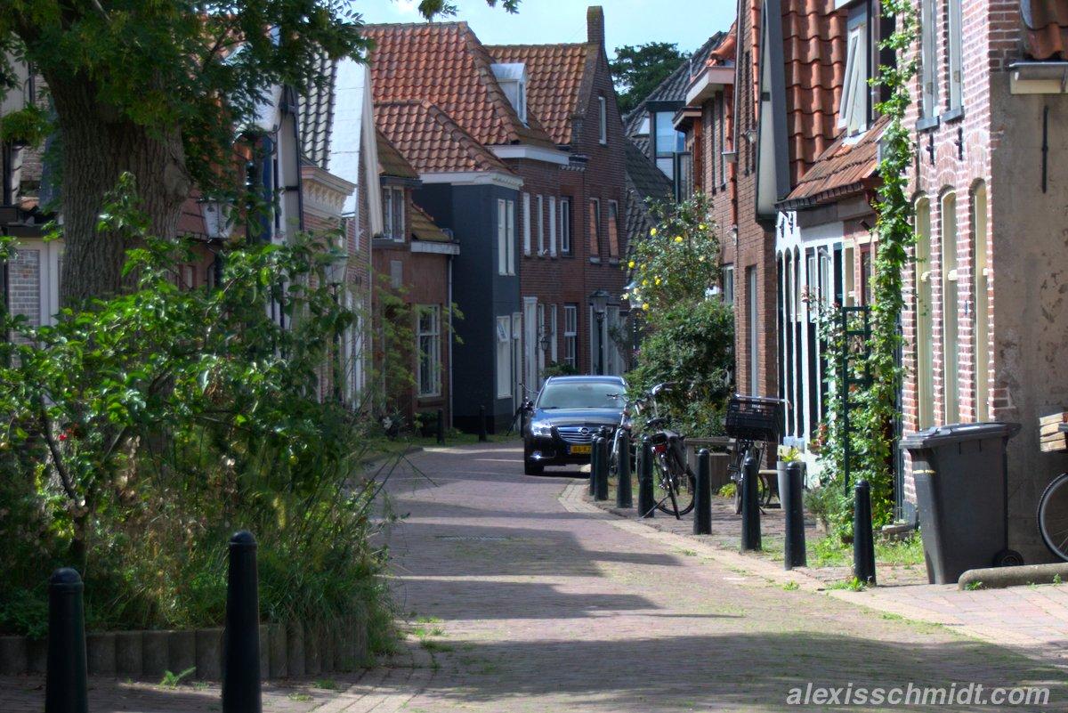 Häuser auf Texel, Niederlande