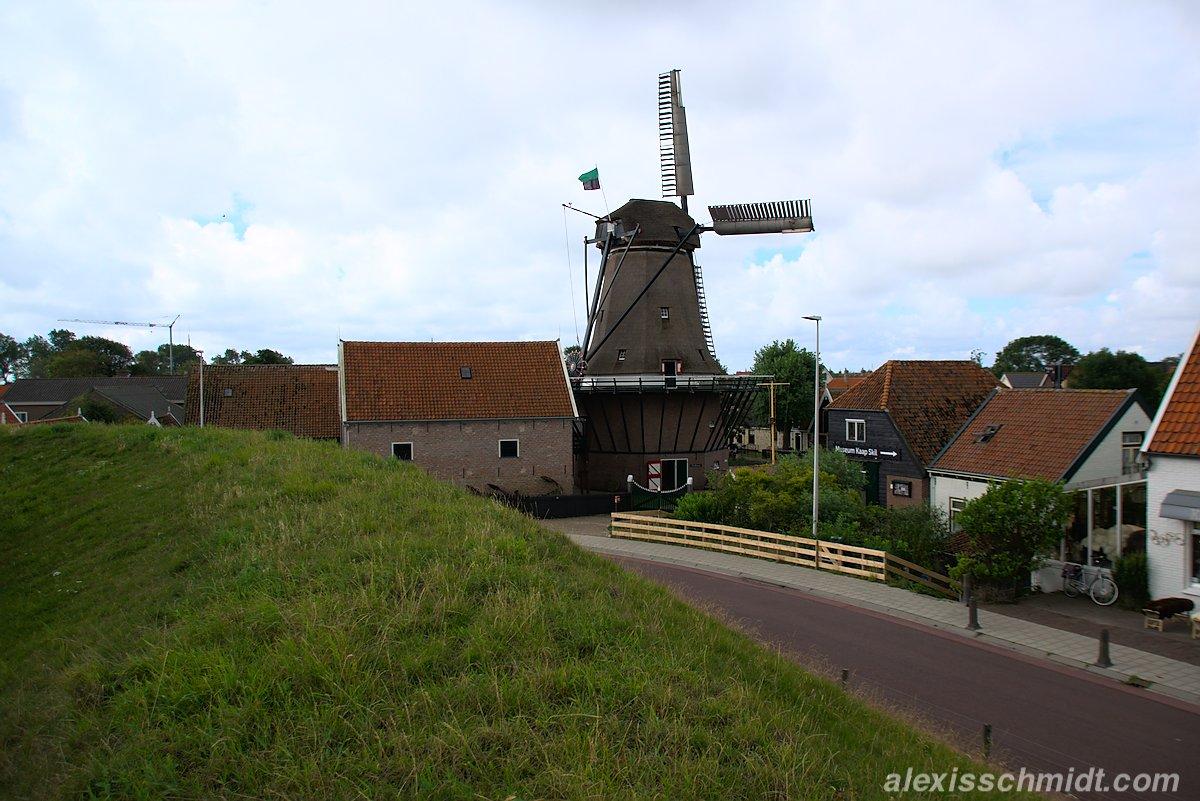 Windmühle in Oudeschild Texel, Niederlande