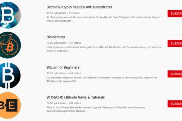 Youtuber die Bitcoin halten