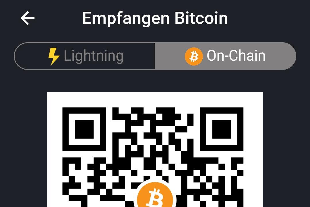 Bitcoins in der Wallet of Satoshi empfangen