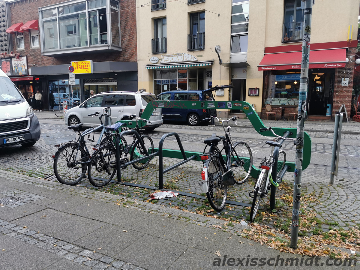 10 bike racks instead of car lot